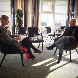 Sygeplejersken Kia Konnerup øver coaching